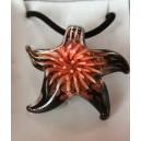 Collier murano forme étoile de mer